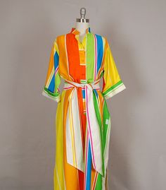 vintage 1980s dress 80s dress caftan cotton by NodtoModvintage, $80.00