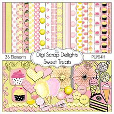 Buy 2 Get 1 Free Sweet Treats Digital by DigiScrapDelights on Etsy, $4.00