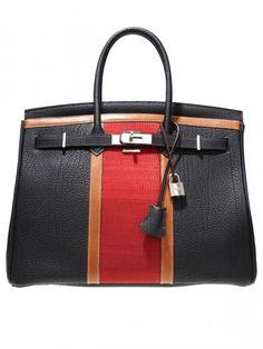 Racing Stripe Birkin Bag by Hermes…beastly!