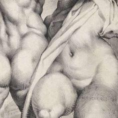 Roof van een Sabijnse vrouw, achteraanzicht, Jan Harmensz. Muller, after Adriaen de Vries, 1596 - 1600 - Rijksmuseum