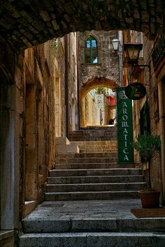 croatia certainly is an unknown gem, especially this alley in korcula
