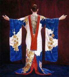 Painting of woman wearing kimono: Brooklyn Museum, Elizabeth A. Sackler Center for Feminist Art: Feminist Art Base: Janice Urnstein Weissman