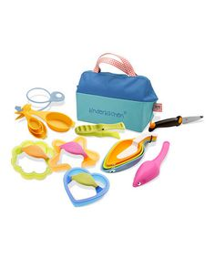 Kinderkitchen kid's cooking set--so cute. Raya would love this!