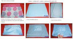 4 - Bolso de jeans con lunares de colores y textura  Jeans bag with spots of color and texture