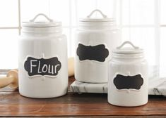 Mud Pie Chalkboard Canisters