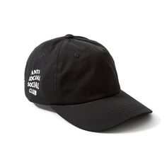 Mens   Womens Anti Social Social Club 6 Panel Golf Weird Adjustable Cap -  Black  . Baseball HatsOrange ... 5e26c292eaa6