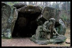 Sculpture of Juan Garinus the Hermit  Matthias Bernard Braun's Bethlehem near Kuks, Czech Republic