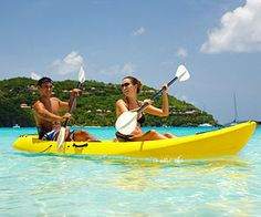 Fit date idea: two-person kayaking or canoeing! If you're both competitive, get single kayaks and race to your lunch spot! #fitnessmagazine