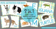 PETS ACTIVITIES FOR KIDS - MAMAYNENE