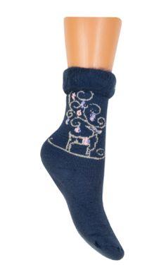 """Купить носки шерстяные с добавлением ПАН и эластана """"Детский без резинки"""" для девочек"""