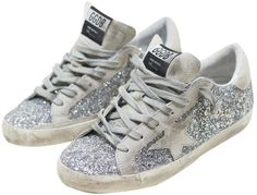 Golden Goose Superstar Silver Sneakers | SHOPTIQUES.COM saved by #ShoppingIS