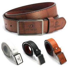 Luxury Men's Casual Waistband Leather Automatic Buckle Belt Waist Strap Belts #Affiliate
