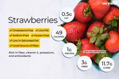 Strawberries are rich in antioxidants, vitamins, and minerals, making them good for you. Find out the nutrition and calorie count of strawberries. Vitamin A, Strawberry Benefits, Canned Strawberries, Strawberry Nutrition Facts, Keto Nutrition, Divas Can Cook, Vitamins And Minerals, Liquid Vitamins, Kids Vitamins