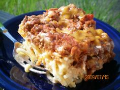 Spasagna...tastes just like the one from Cheddars!  Note to all...this recipe makes A LOT, so prepare for leftovers!