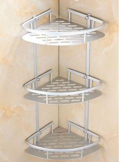 Bathroom Organization: 3 Layer Triangular Shower Shelf Bathroom Corner bath Rack…