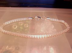 Platinum Look Snake Chain Bracelet-Shiney Silver European Snake Chain Bracelet-Big Hole Beads-3mm and 7.5 inches-Charm Bracelet