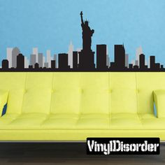 Skyline Decals, City Skyline Wall Decals