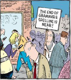 An apocalyptic cartoon for English majors
