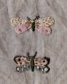 butterfly appliqué + embroidery patches