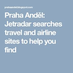 Jetradar searches travel and airline sites to help you find #jetradar