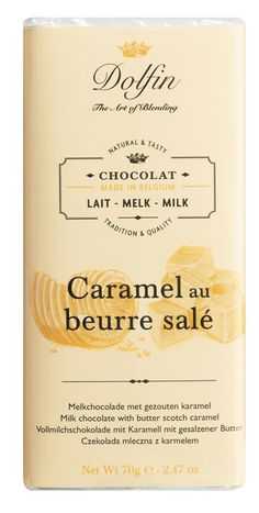 Milk with Butterscotch Caramel - Pure gourmet chocolate for the sweet tooth : the pleasure of milk chocolate enhanced by creamy, crunchy butterscotch caramel.