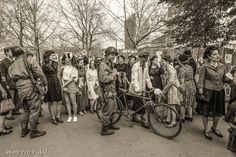 After the Retro Fashion Show reenacting the liberation of Pilsen in 1945 - Liberation Festival 2017