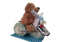 Adorably cool Tricycle Nappycake by Celebrating with Us