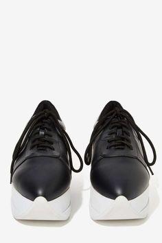 Jeffrey Campbell Giovan Leather Platform Sneaker | NastyGal