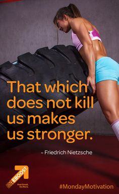"""That which does not kill us makes us stronger! Inspiration For The Day, Fitness Inspiration, Healthy Energy Drinks, Pre Workout Supplement, Friedrich Nietzsche, How To Increase Energy, Monday Motivation, Nutrition, Strong"