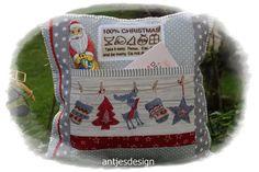 Geschenkverpackungen - Weihnacht / Nikolaus -  gr. Kissen 100% Christmas  - ein Designerstück von antjesdesign bei DaWanda