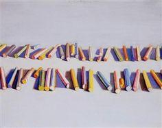 Pastel Rows 1972 x 51 cm) by Wayne Thiebaud Artwork Type: Painting; Wayne Thiebaud Paintings, Pop Art, Banner Images, Make Art, Art Lessons, The Row, Modern Art, Illustration Art, Pastel