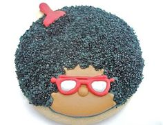 Afro cookies for 70s party! This is hysterical!!! Hahahahahaha!
