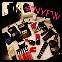 Lauren Andersen prepping her #makeup kit for the Nicholas K #NYFW show!