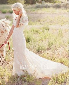 wedding dress ivory scalloped lace flutter sleeve pretty spring   Coupon code: LoveFeel. 10% discount on any order. Expiry date: UNLIMITED