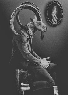 • art animals Black and White creepy weird strange surrealism Macabre witchcraft goat satanic wicca dark art surrealist creepy art dark surrealism dearestbelles •