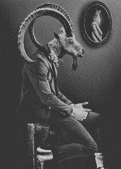 • art animals Black and White creepy weird strange surrealism Macabre witchcraft goat satanic wicca dark art surrealist creepy art dark surrealism dearestbelles •