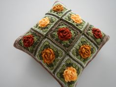Apple Blossom Dreams: Autumn Granny Rose Pillow V - The Reveal