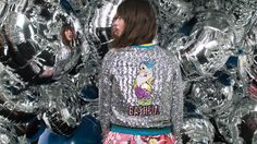 Designer Mary Katrantzou created an exclusive Snow White collection for Colette that features the iconic seven dwarfs in colorful sequined silhouettes! Snow White Seven Dwarfs, Mary Katrantzou, The Seven, Disney Style, North Face Backpack, Graphic Sweatshirt, Brand New, Disney Fashion, Sweaters