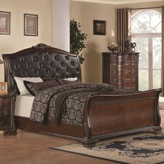Maddison, Maddison Sleigh Bedroom Set, Dining Room Table Sets, Bedroom Furniture, Curio Cabinets and Solid Wood Furniture - Model - Home Gallery Stores Furniture Sleigh Bedroom Set, Master Bedroom Set, 5 Piece Bedroom Set, King Bedroom Sets, Queen Bedroom, Sleigh Beds, Bedroom Bed, Ikea Bedroom, Bedrooms