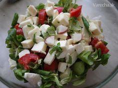 Jarný šalát s mozzarellou (fotorecept)
