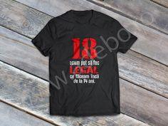 Tricou personalizat pentru zi de nastere – tricou personalizat pentru 18 ani – daca sunteti in cautare de cadouri pentru majorat sau cadouri pentru 18 ani, atunci trebuie sa alegeti un tricou personalizat