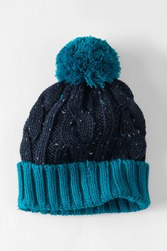 Kids' Donegal Cable Knit Hat from Lands' End
