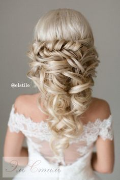 braided half up half down wedding hairstyles / http://www.deerpearlflowers.com/15-stunning-half-up-half-down-wedding-hairstyles-with-tutorial/
