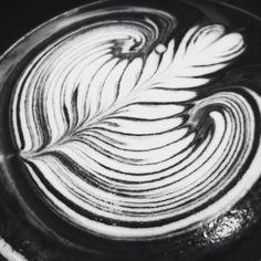 Rosetta by Barista David #blackandwhite #latteart #rosetta #coffee #latte #cafe #bundaberg #alowishus