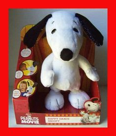 THE PEANUTS MOVIE ANIMATED HAPPY DANCE SNOOPY STUFFED ANIMAL PLUSH FIGURE SCHULZ