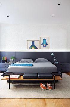 São quartos com estilos diferentes, mas algo em comum: o conforto. Misturas…