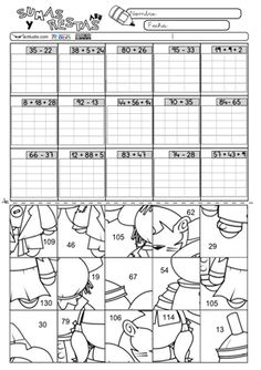 Sumas y restas 09 Math Games, Math Activities, Montessori Math, 2nd Grade Math, Addition And Subtraction, Math Worksheets, Math Classroom, Primary School, Math Lessons