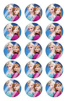 """Disney Frozen Bottle Cap 1"""" Circle Images #DF15 (instant download or pre cut)"""