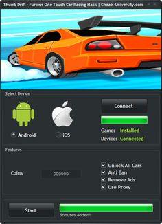 Thumb Drift – Furious One Touch Car Racing Hack – Android iOS Cheats  http://cheats-university.com/thumb-drift-furious-one-touch-car-racing-hack/