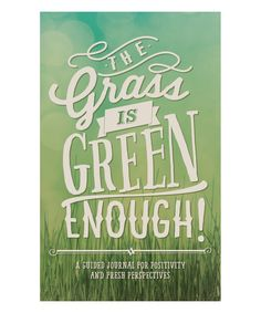 Studio Oh! The Grass Is Green Enough Guided Journal   zulily